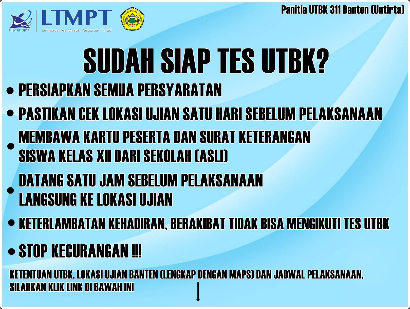 Informasi Penting Tes UTBK 2019