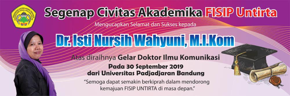 Selamat Kepada Dr. Isti Nursih W., M.I.Kom