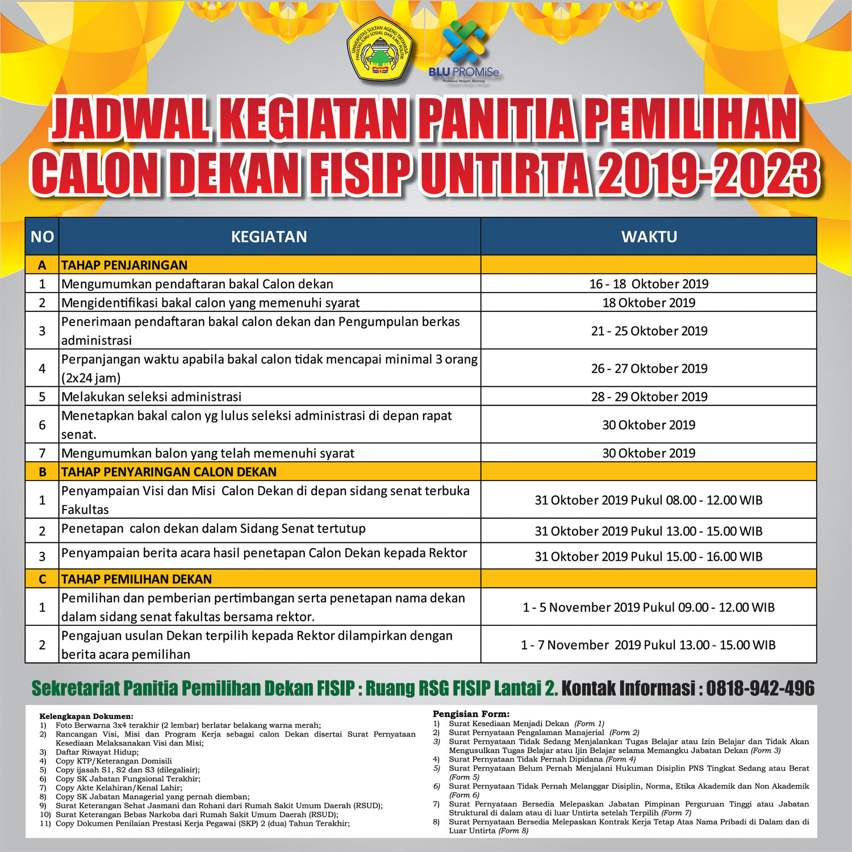 Pemilihan Calon Dekan FISIP UNTIRTA 2019-2023