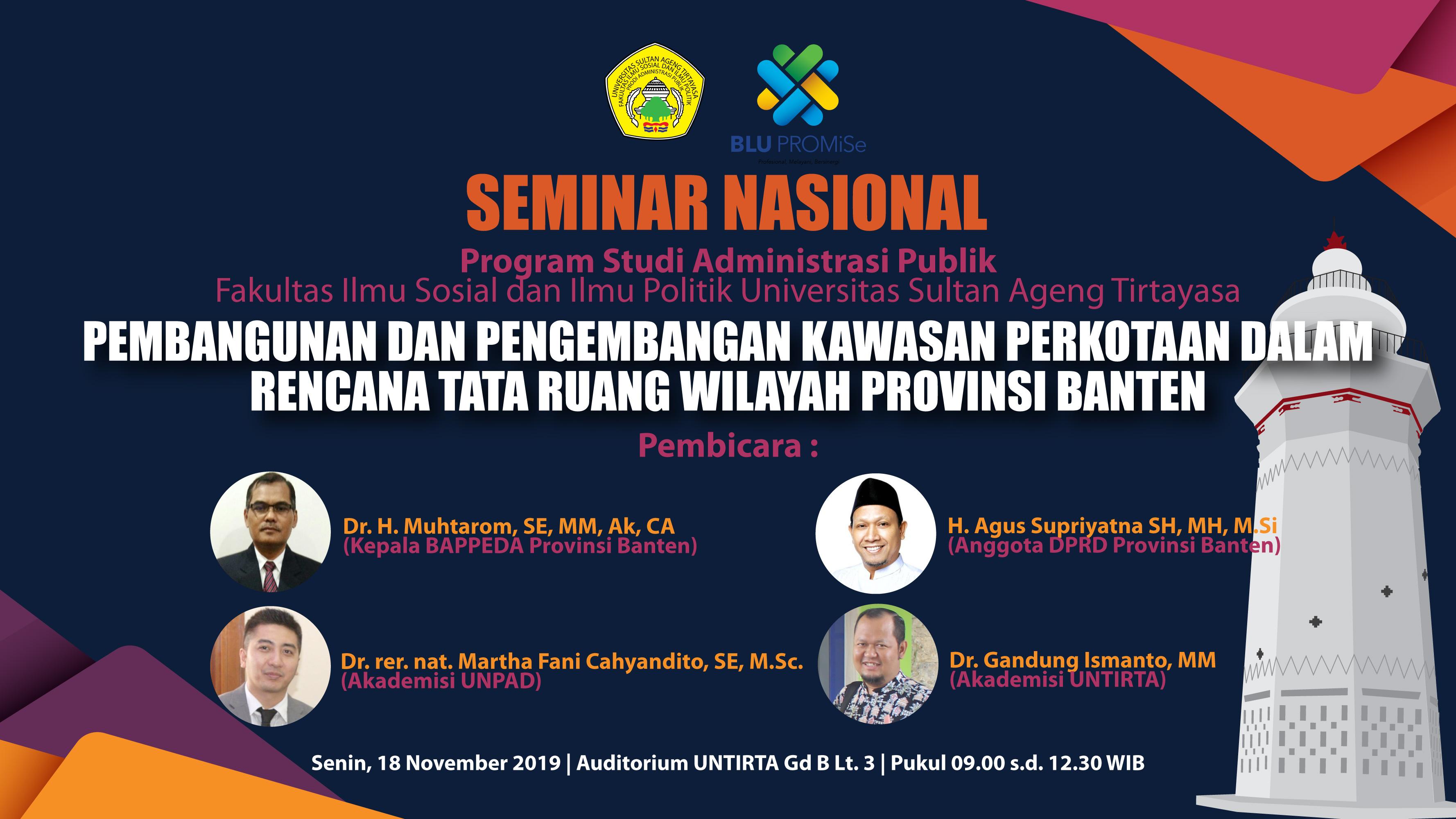 Seminar Nasional Prodi Administrasi Publik, 18 November 2019