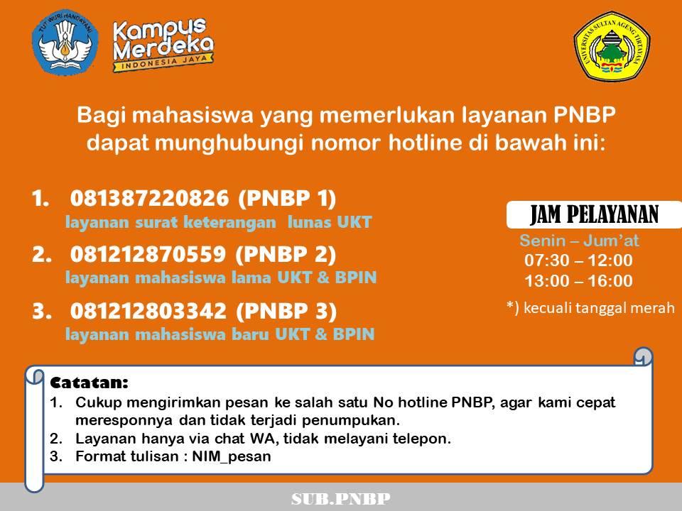 Hotline Layanan Kemahasiswaan Untirta Selama Masa PPKM Level 4 26 Juli – 2 Agustus 2021