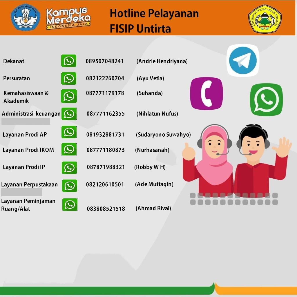 Layanan Hotline FISIP Universitas Sultan Ageng Tirtayasa