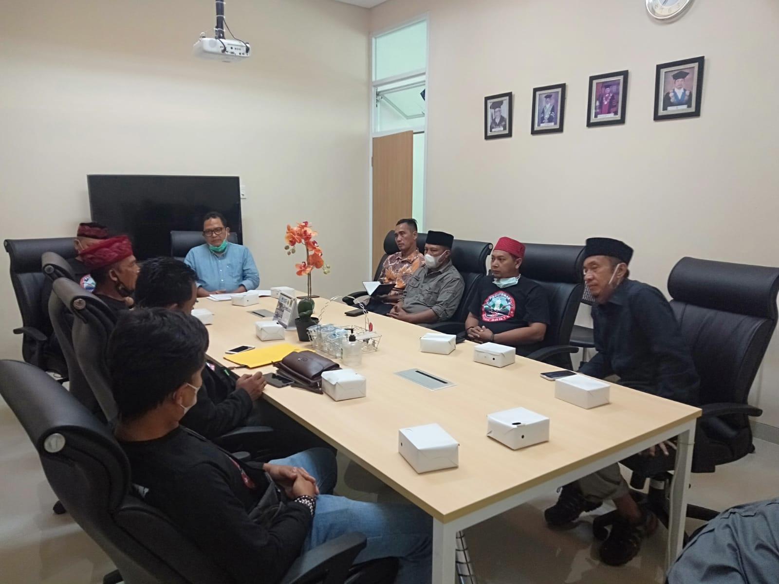 Kunjungan Paguyuban Budak Banten ke FISIP Universitas Sultan Ageng Tirtayasa Tanggal 2 September 2021